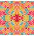 Seamless texture with abstract flowers endless vector