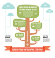 Infographic business concept - tree with clouds vector