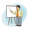 Businessman make presentation vector
