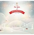 Merry christmas landscape eps 10 vector