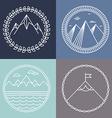 Mountain logos vector