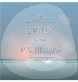 Misty morning background vector