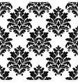 Damask seamless pattern with floral motifs vector
