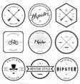 Vintage hipster badge vector