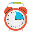 15 - fifteen minutes stop watch - alarm clock vector