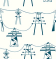 Seamless pattern for electricity - power lines vector