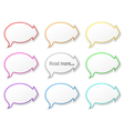 Paper speech bubbles with arrows vector