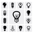 Bulbs icons vector