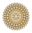 Ethnic round ornament vector