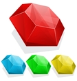 Set of gems in different color vector