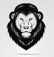 Black lions head mascot vector