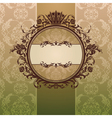 Abstract royal ornate vintage frame vector