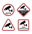 Security camera set stickers vector