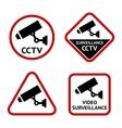 Security camera set stickers vector
