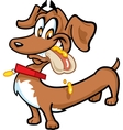 Dachshund hot dog vector