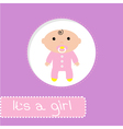 Baby shower card its a girl vector