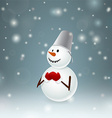 Snowman with metal bucket vector