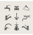 Water-supply faucet mixer vector
