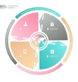 Circle business concepts with icons vector