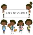 African-american school kids vector