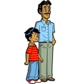 Indian father and son vector