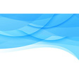 Transparent smooth blue waves background vector