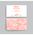 Simple business card template with decorative vector