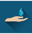 Drop over hand icon vector