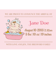 Baby arrival or shower card vector