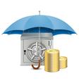 Umbrella and safe vector