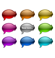Glassy speech bubble with arrows vector