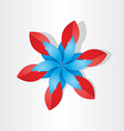 Flower decoration icon red blue vector