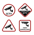 Security camera stickers vector