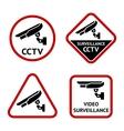 Security camera stickers vector