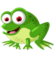 Happy green frog cartoon vector
