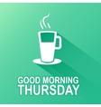 Days of the week thursday vector