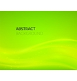 Abstract green background with smooth lines vector