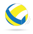 Volleyball ball isolated white background vector
