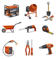 Constructions tools icons vector