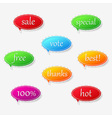 Free sticker labels collection vector