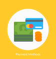 Flat design concept for payment methods for vector