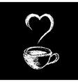 Coffee chalk vector
