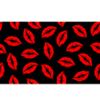Seamless lip pattern red vector
