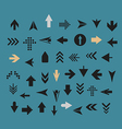 Arrow sign silhouettes collection vector