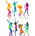 Isolated dancing people vector