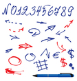 Numbers and symbols set vector