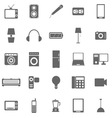 Electrical machine icons on white background vector