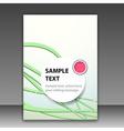 Modern brochure folder template - green lines vector