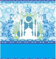 Abstract religious card vector