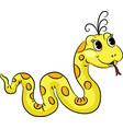 Funny cartoon snake vector